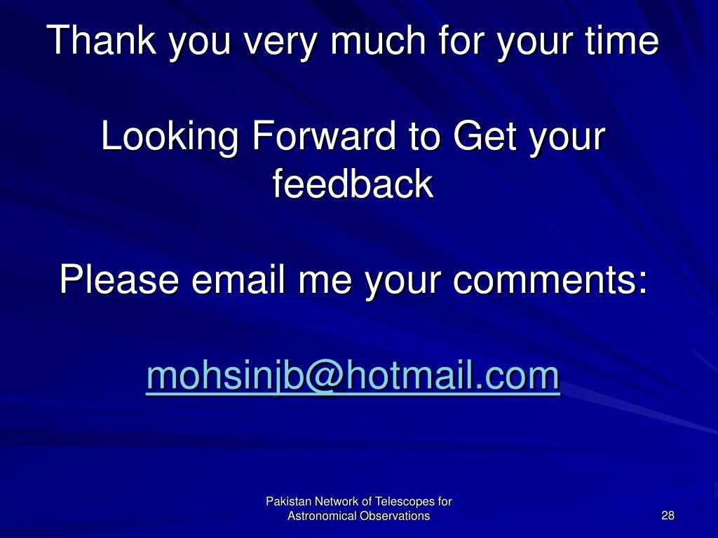 Thank you very much for your time