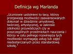 definicja wg marlanda