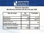 situaci n operativa movilizacion terrestre del d a 9 de sept 2006