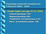 puuetega inimeste hoolekanne t itmine 2006 20081