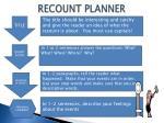 recount planner