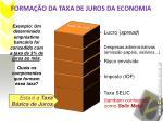 forma o da taxa de juros da economia