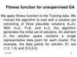 fitness function for unsupervised ga