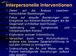 interpersonelle interventionen