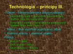 technol gia princ py iii