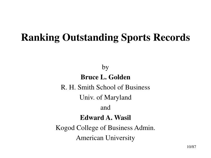 ranking outstanding sports records n.