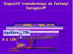 dispositif transdermique de fentanyl durog sic