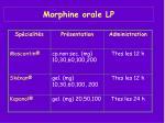 morphine orale lp
