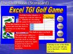 the clubhouse scorecard
