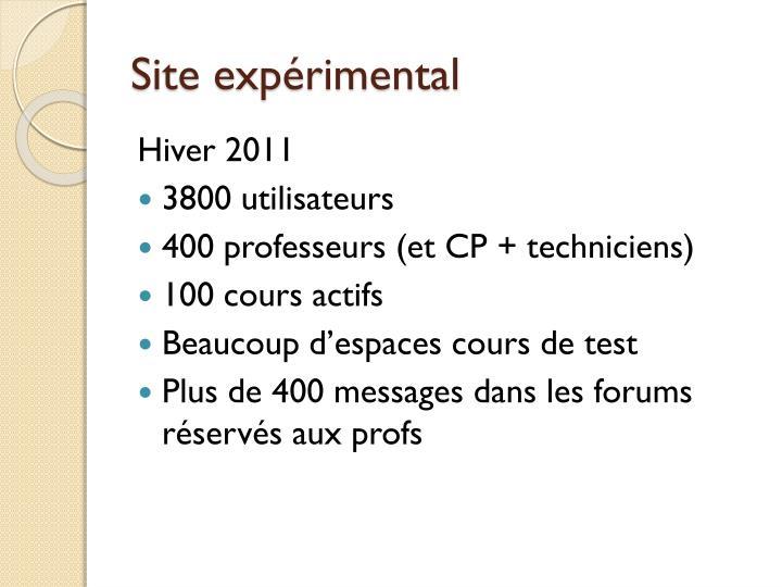 Site exp rimental