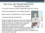 servicio de hospitalizaci n