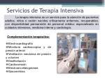 servicios de terapia intensiva