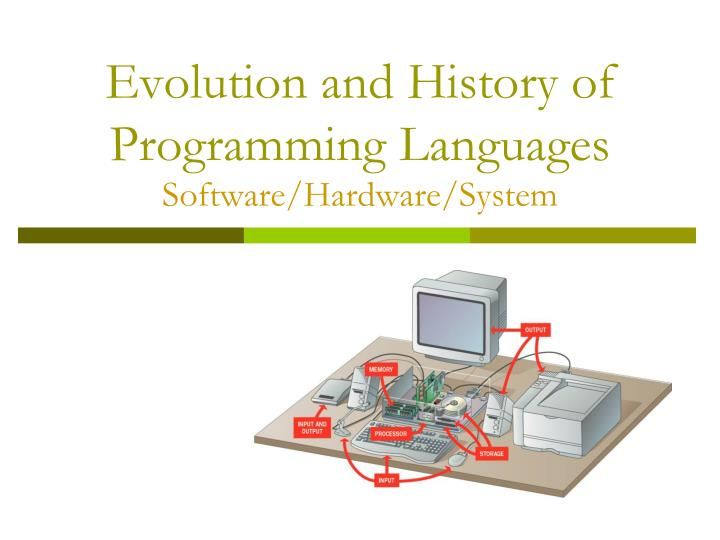 evolution and history of programming languages software hardware system n.