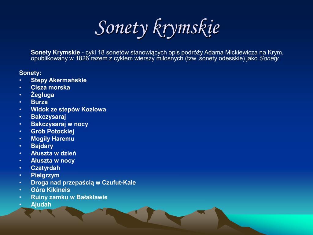 Ppt śladami Adama Mickiewicza Krym Powerpoint Presentation