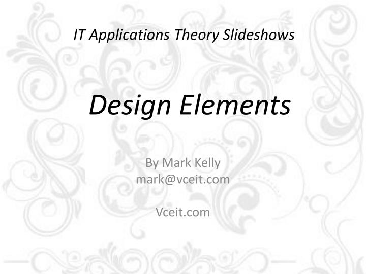 it applications theory slideshows n.