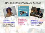 fip s industrial pharmacy section