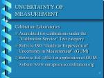 uncertainty of measurement