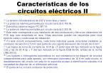 caracter sticas de los circuitos el ctricos ii