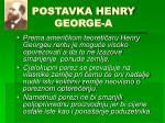 postavka henry george a