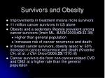 survivors and obesity