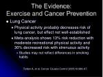 the evidence exercise and cancer prevention2