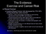 the evidence exercise and cancer risk