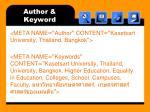 author keyword
