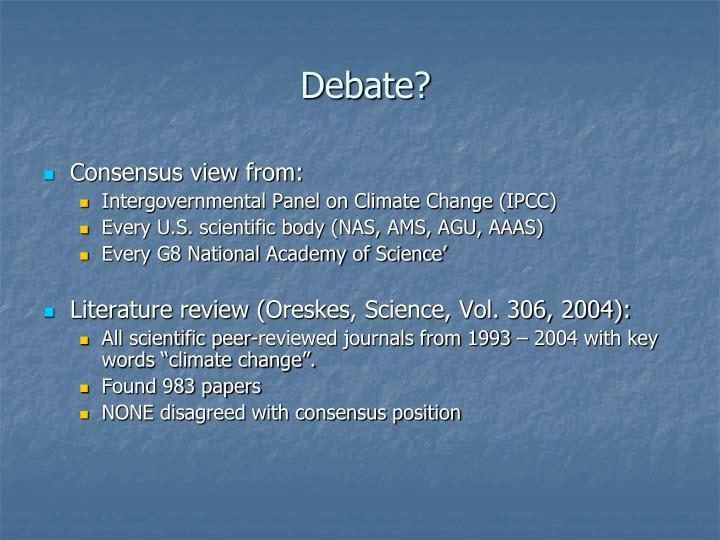 Debate?