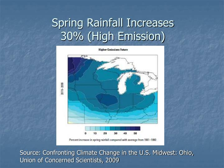 Spring Rainfall Increases