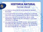 historia natural hernia discal