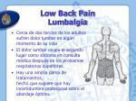 low back pain lumbalgia