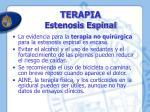 terapia estenosis espinal