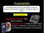 a psicografia
