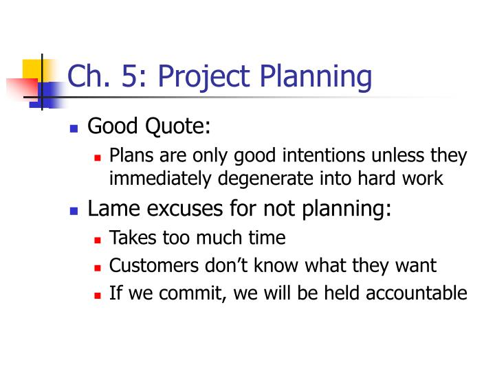 ch 5 project planning n.