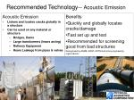 recommended technology acoustic emission
