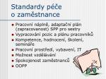 standardy p e o zam stnance
