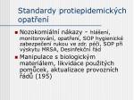 standardy protiepidemick ch opat en
