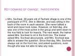 key domains of change participation