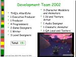 development team 2002