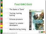final gmc gold