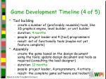 game development timeline 4 of 5