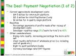 the deal payment negotiation 1 of 2