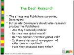 the deal research