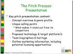 the pitch process presentation