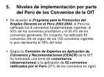 5 niveles de implementaci n por parte del per de los convenios de la oit