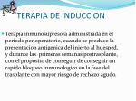 terapia de induccion
