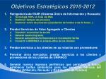 objetivos estrat gicos 2010 2012