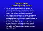 pathophysiology interdisciplinary practice