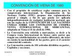 convenci n de viena de 1980