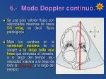 6 modo doppler continuo